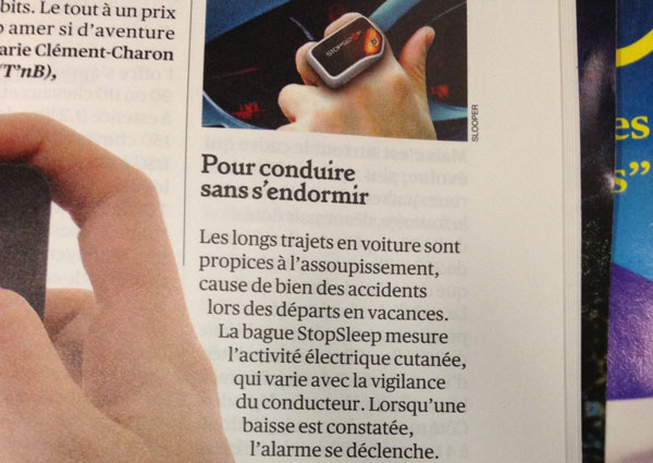 Fragment 1 of the page of Valeurs Actuelles magazine talking about StoSleep